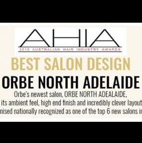 Orbe Hair AHIA Best Salon Design award