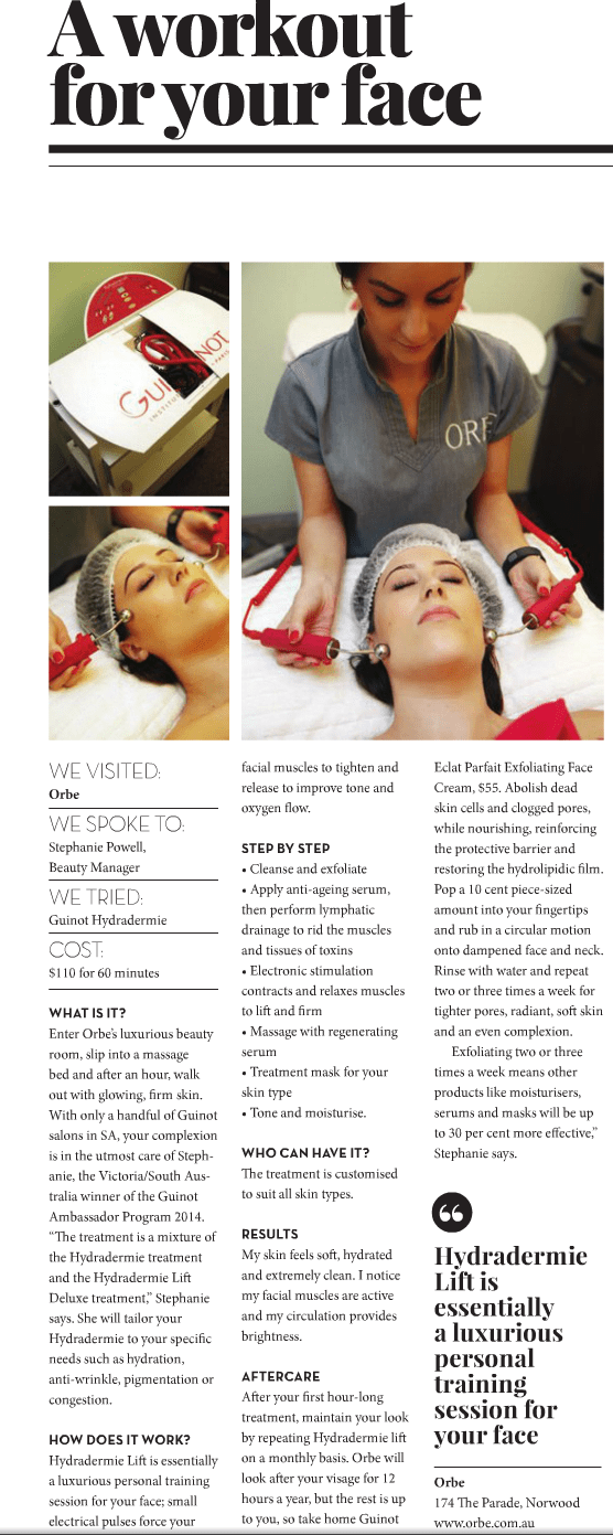A workout for your face – SA Style, Issue 21, Autumn 2015