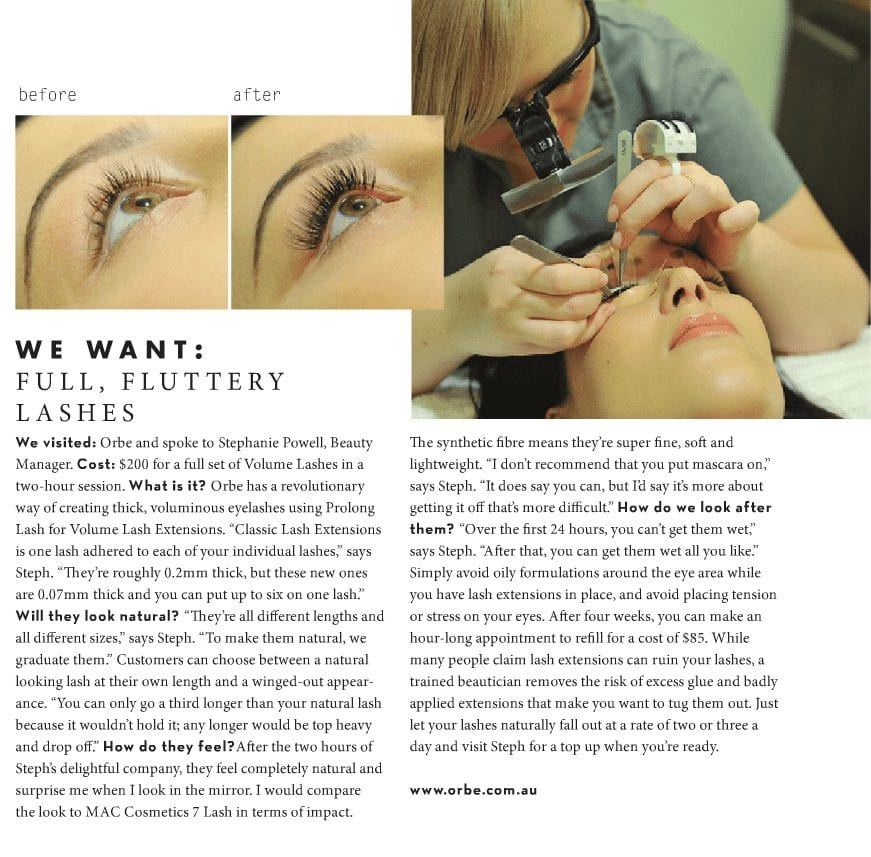 Full, fluttery lashes – SA Style, Issue 23, Spring 2015
