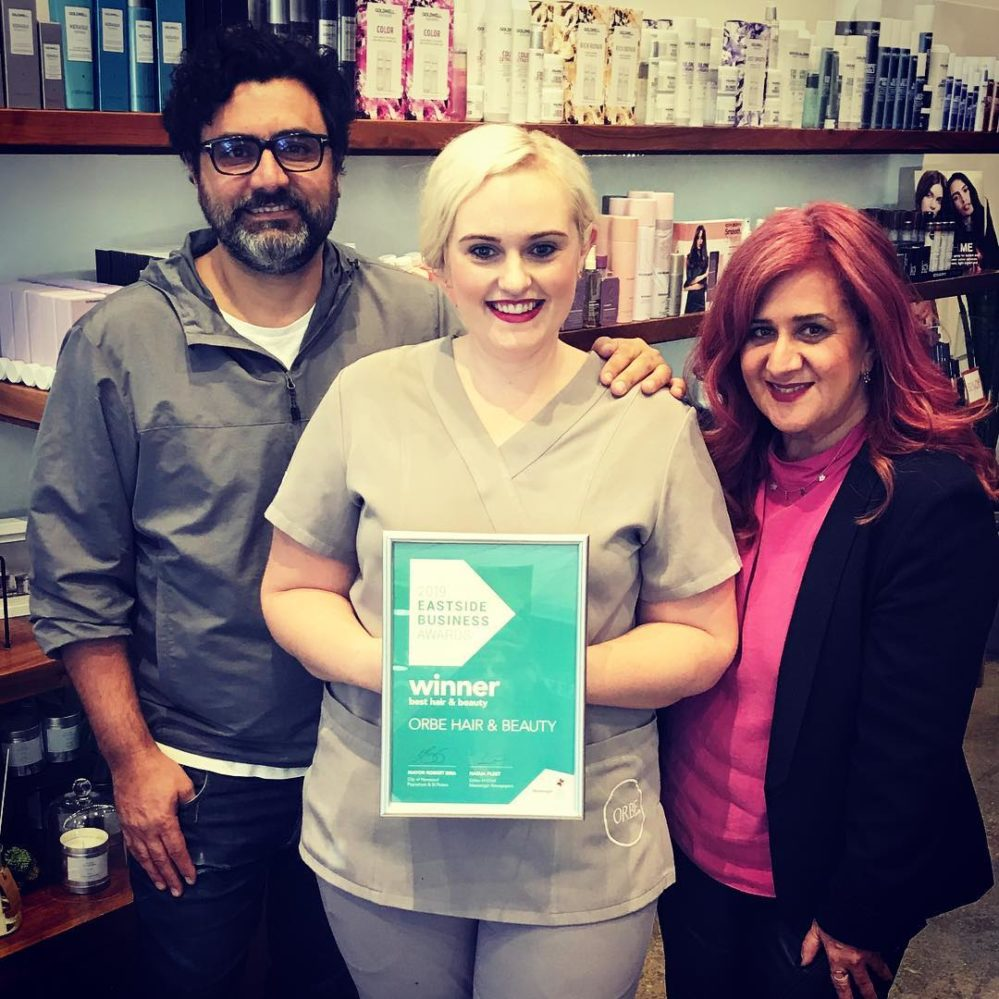 Eastside Awards 2019 winner Orbe Norwood Best Hair & Beauty