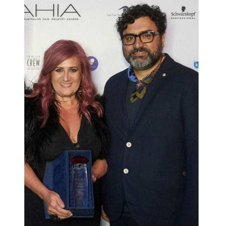Joe Cimmino and Ida Tirimacco AHIA -2019 winner State Salon of the Year for SA, Victoria, Tasmania