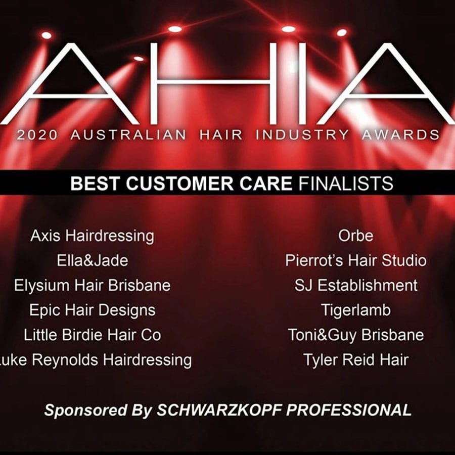 Orbe Hair & Beauty 2020 AHIA Finalist: Best Customer Care (AUS)