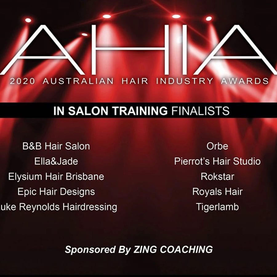 Orbe AHIA 2020 Awards Best In Salon Training Finalist (AUS)