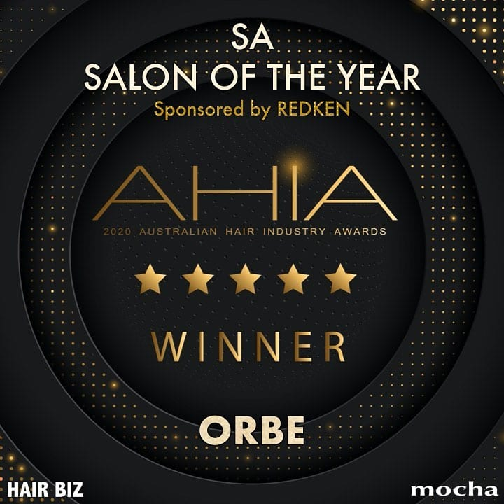 Orbe is AHIA SA STATE SALON of the YEAR 2020!!