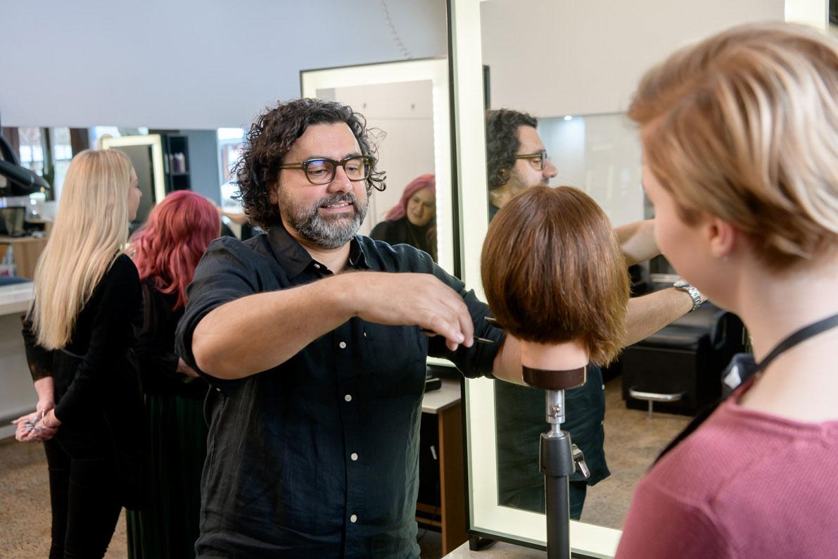 ORBE training hair cutting with Joe Cimmino