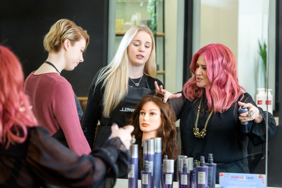 ORBE training hair cutting with Ida Tirimacco