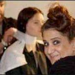Ida working at London Fashion Week 2012