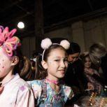 cute kid models at Mercedes-Benz Fashion Week Camilla Orbe hair and makeup