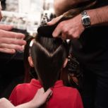 Mercedes-Benz Fashion Week Camilla Orbe hair behind the scenes